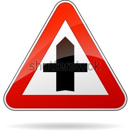Prioridade placa sinalizadora ilustração isolado assinar estrada Foto stock © nickylarson974