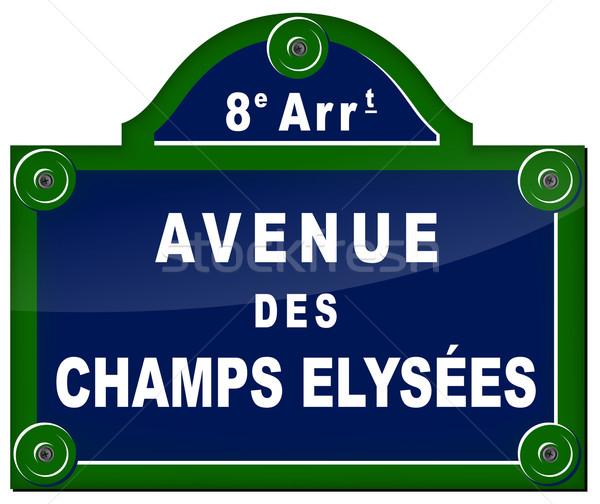 paris avenue sign Stock photo © nickylarson974