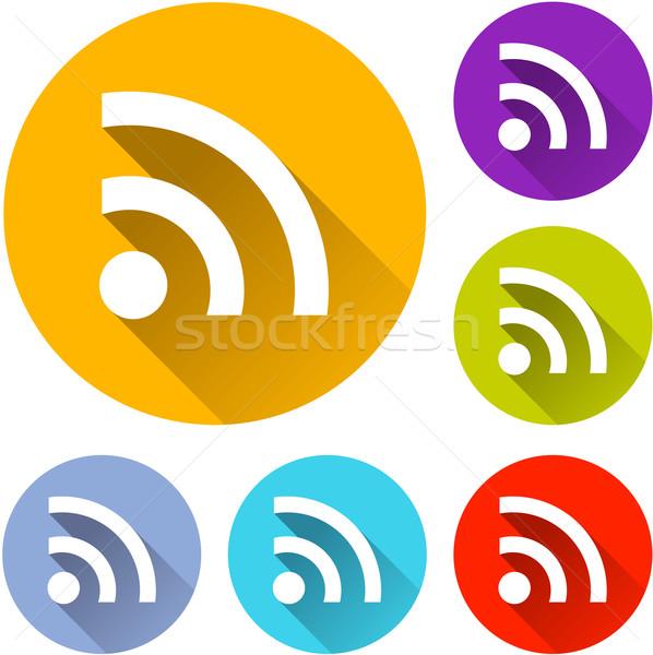 wifi icons Stock photo © nickylarson974