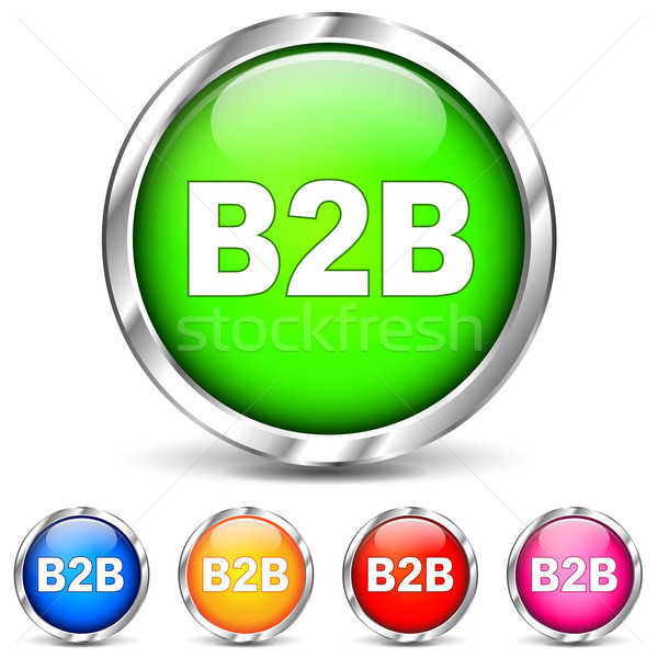 Vector b2b chrome icons Stock photo © nickylarson974