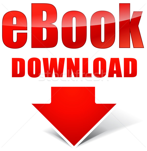 Vector ebook rojo icono descargar Internet Foto stock © nickylarson974
