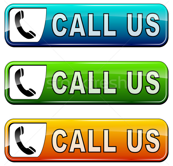 'call us' buttons Stock photo © nickylarson974