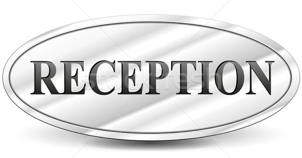 Wektora recepcji tablicy biały działalności projektu Zdjęcia stock © nickylarson974