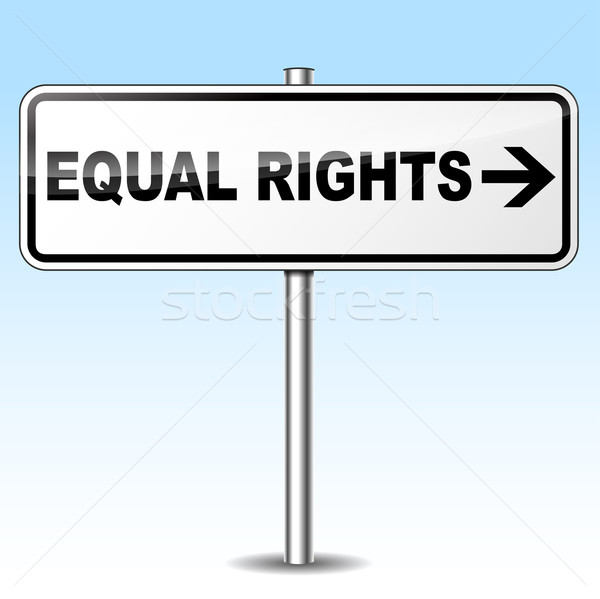 Vector equal rights sign Stock photo © nickylarson974