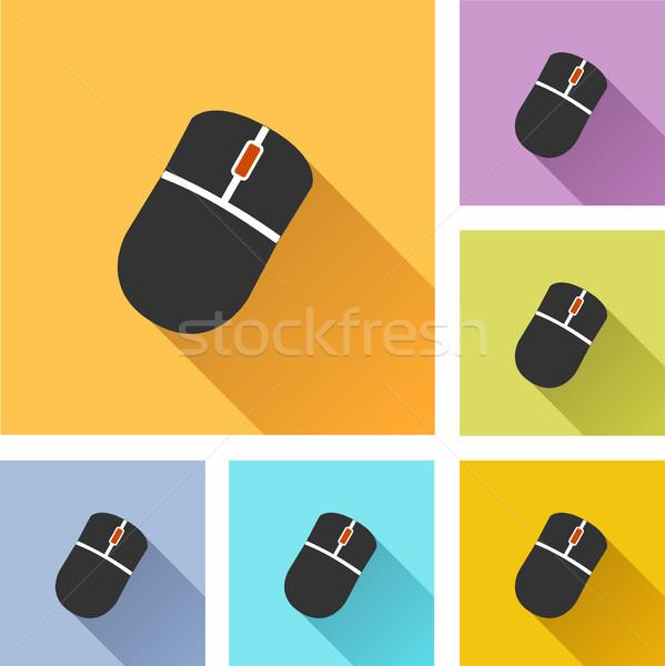 Компьютерная мышь набор иконки иллюстрация дизайна интернет Сток-фото © nickylarson974