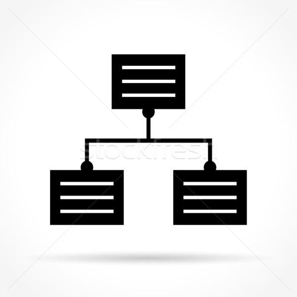 data icon on white background Stock photo © nickylarson974