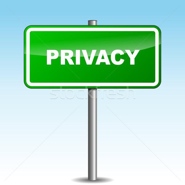 Vector privacy signpost Stock photo © nickylarson974
