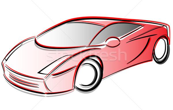 Vetor carro desenho protótipo abstrato tecnologia Foto stock © nickylarson974