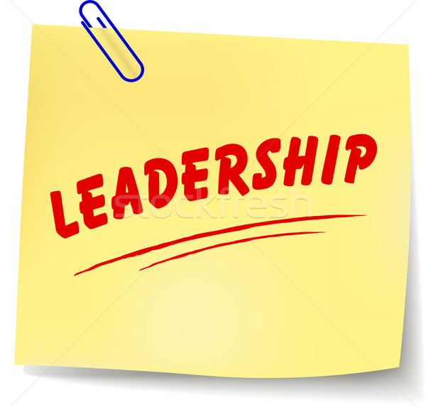 Vector leadership message Stock photo © nickylarson974