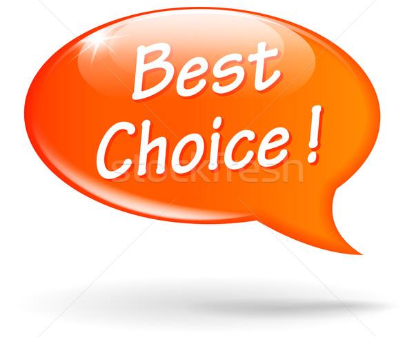 Vektor narancs legjobb választás szövegbuborék beszéd hirdetés Stock fotó © nickylarson974