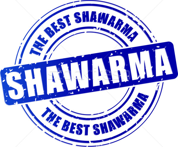 blue shawarma stamp Stock photo © nickylarson974