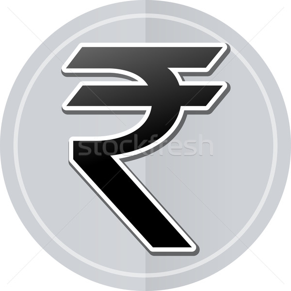 rupee sticker icon Stock photo © nickylarson974