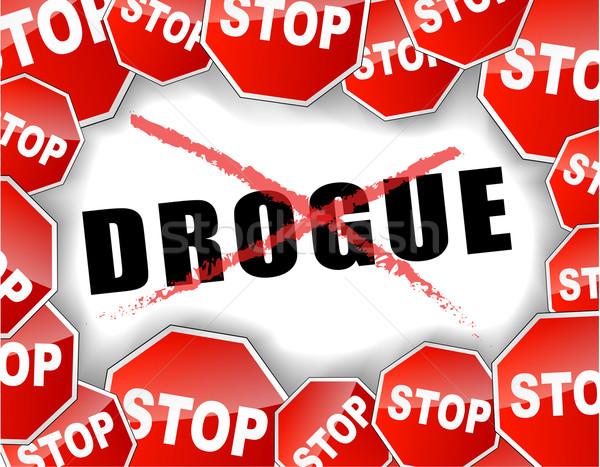 Stop drugs french illustration Stock photo © nickylarson974