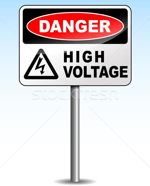 ベクトル 高電圧 にログイン 空 デザイン 赤 ストックフォト © nickylarson974