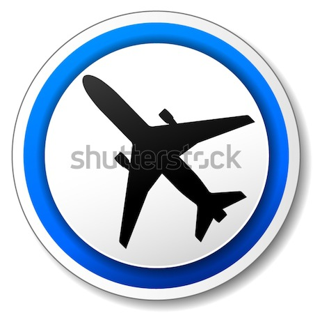 Vector airplane icon Stock photo © nickylarson974
