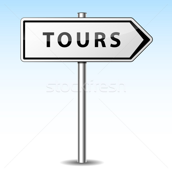 Vector tours directional sign Stock photo © nickylarson974
