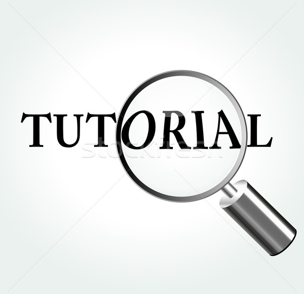 Vector tutorial theme illustration Stock photo © nickylarson974