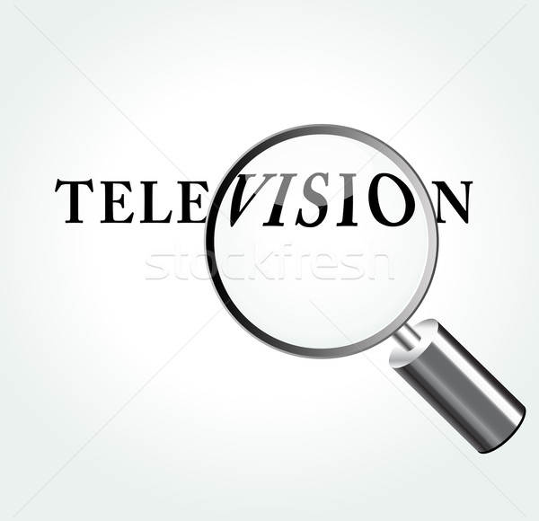 Vector television concept illustration Stock photo © nickylarson974