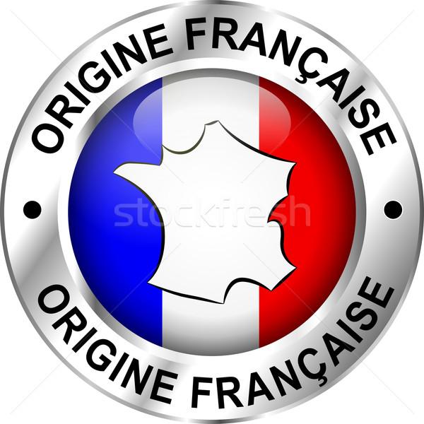 Français origine icône traduction design carte Photo stock © nickylarson974