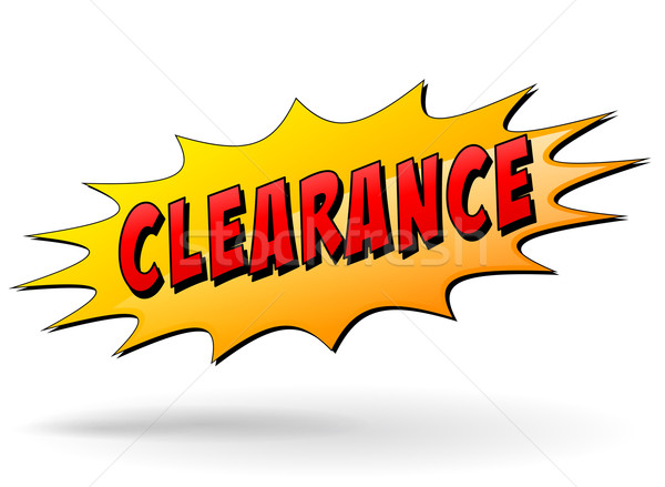 clearance yellow star icon Stock photo © nickylarson974