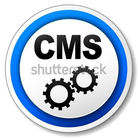 Cms etiqueta icono ilustración simple diseno Foto stock © nickylarson974