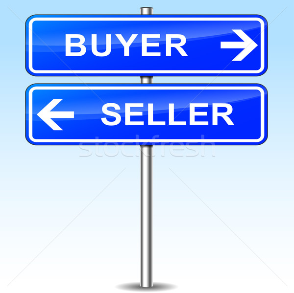 buyer and seller sign Stock photo © nickylarson974