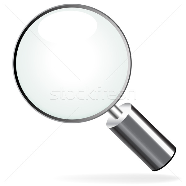 Zoom icona vetro scienza studio ricerca Foto d'archivio © nickylarson974