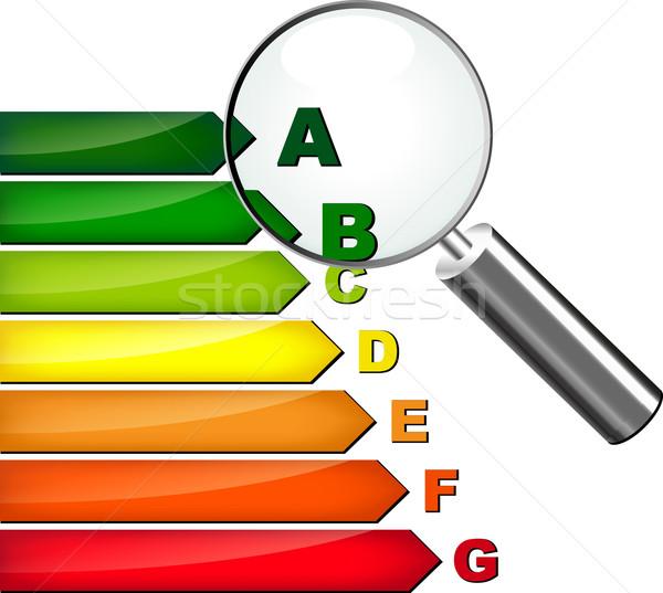 La eficiencia energética casa edificio tecnología arquitectura poder Foto stock © nickylarson974