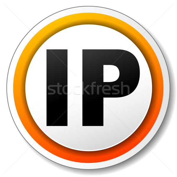 Ip adres icon illustratie oranje internet Stockfoto © nickylarson974