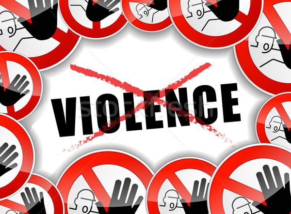 Keine Gewalt Illustration abstrakten Design Hintergrund Stock foto © nickylarson974