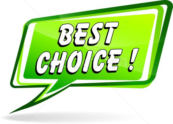 En İyi seçim metin örnek yeşil konuşma dizayn Stok fotoğraf © nickylarson974