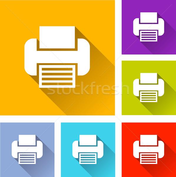printer icons Stock photo © nickylarson974