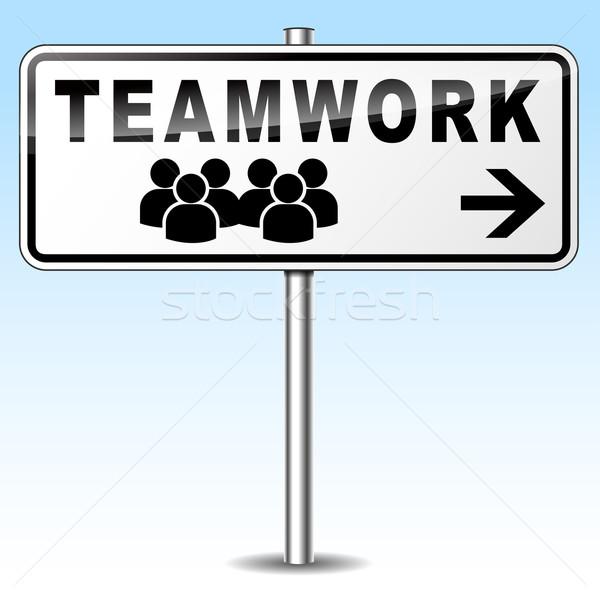 teamwork sign Stock photo © nickylarson974