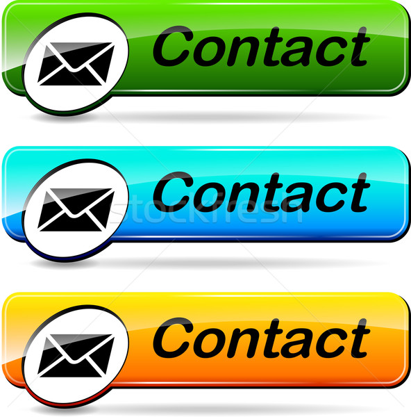Mail contacto botones ilustración tres web Foto stock © nickylarson974