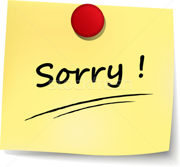 sorry yellow note Stock photo © nickylarson974