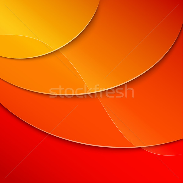 Stock photo: yellow to red abstract background