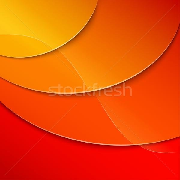 желтый красный аннотация иллюстрация бумаги веб Сток-фото © nickylarson974