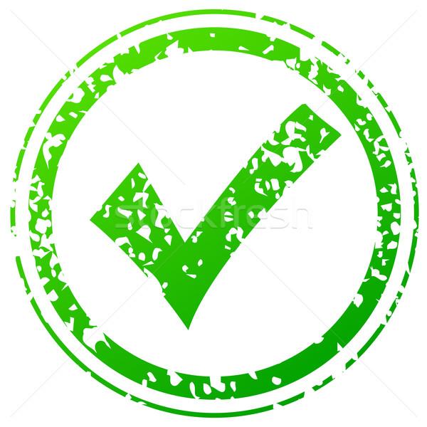 Check green stamp Stock photo © nickylarson974