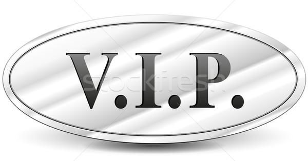Vip Metal imzalamak beyaz ışık siyah Stok fotoğraf © nickylarson974
