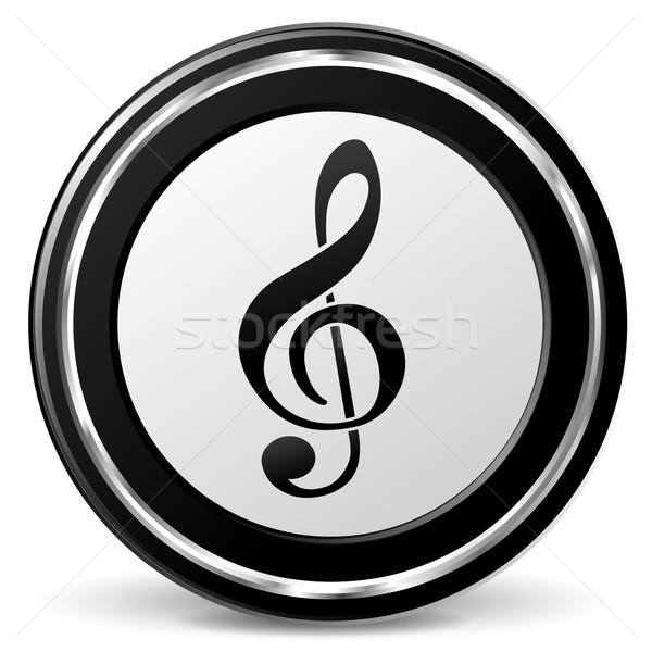 Vector music icon Stock photo © nickylarson974