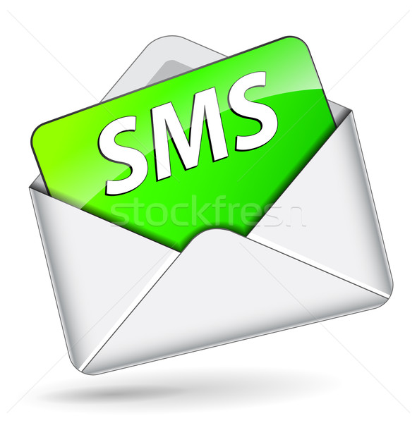 Vettore sms busta mail icona business Foto d'archivio © nickylarson974