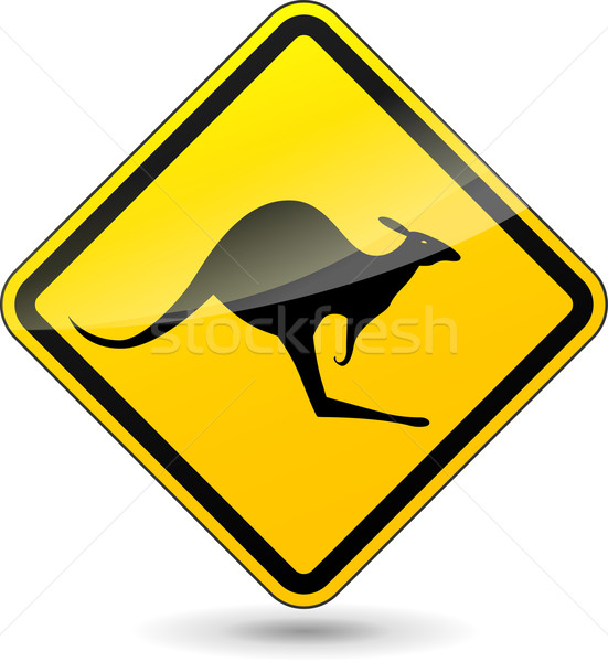 Vector kangaroo sign Stock photo © nickylarson974