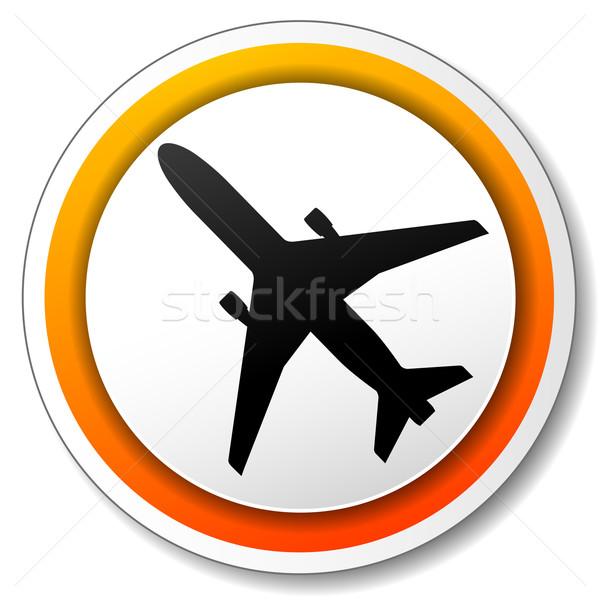 airplane icon Stock photo © nickylarson974