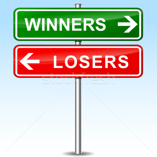 winners and losers directional sign Stock photo © nickylarson974