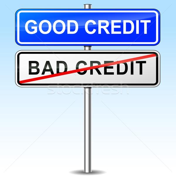 good credit sign Stock photo © nickylarson974