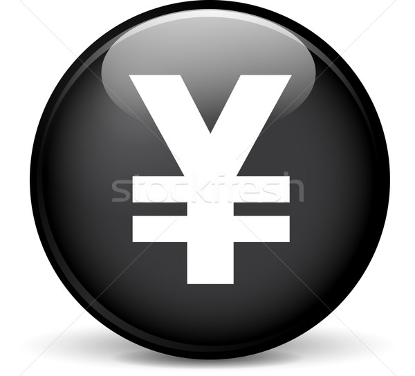 Yen icono ilustración moderna diseno negro Foto stock © nickylarson974