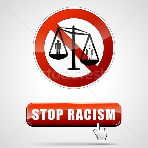 stop racism sign Stock photo © nickylarson974