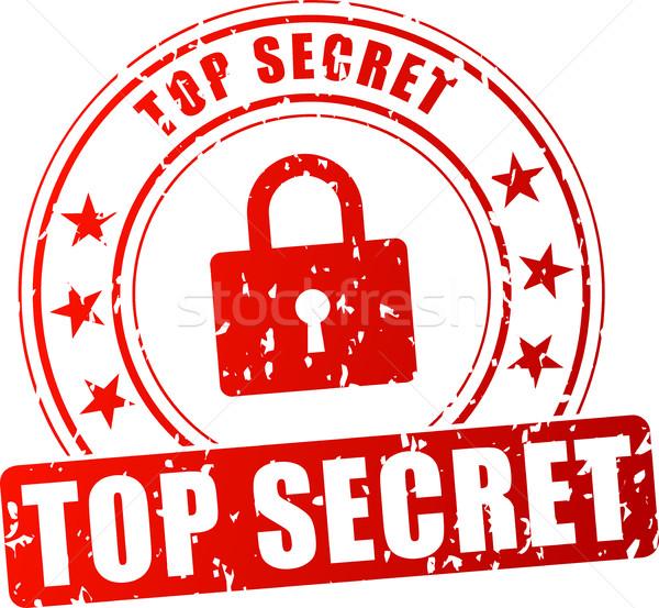 top secret red stamp Stock photo © nickylarson974
