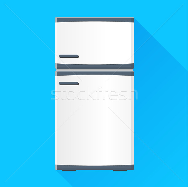 Frigo icône illustration ombre design meubles Photo stock © nickylarson974