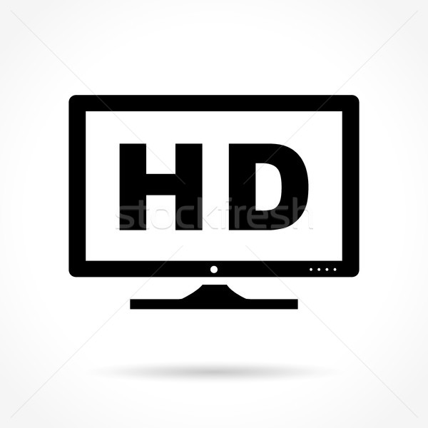Icon illustratie witte monitor video Stockfoto © nickylarson974